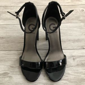 Guess Shoes - G by Guess Black Chunky Heel Sandals